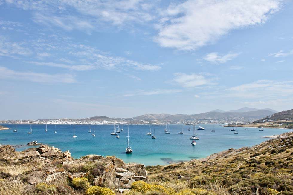 Best beach in Paros - Perikopetra Beach