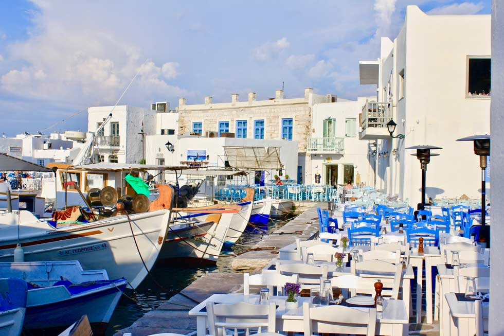 Things to do in Paros Dinning in Naoussa port