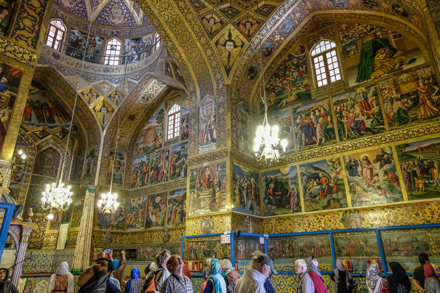 Esfahan Cathedral Vank Painting inside