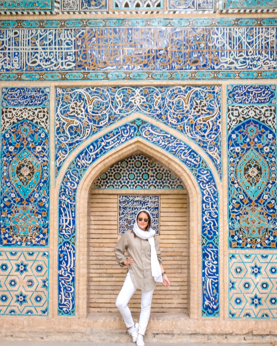 Esfahan KAKH-E CHEHL SOTUN mosaic Emma Bonjoursunset