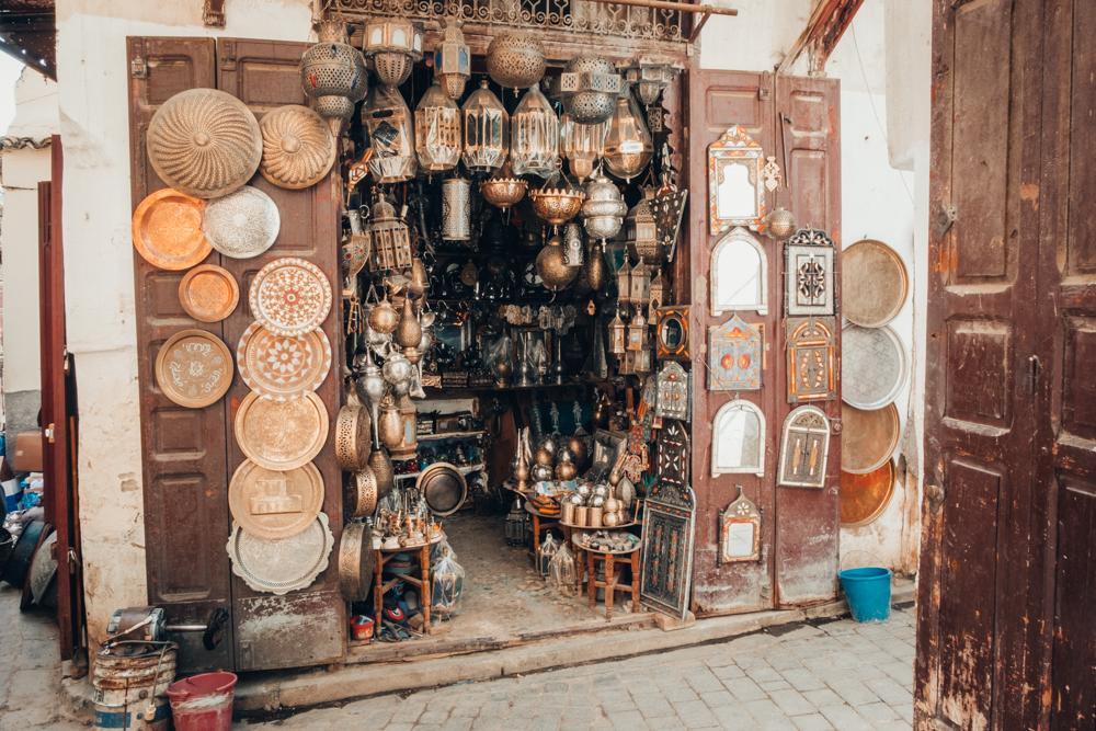 Fez Medina shop copper