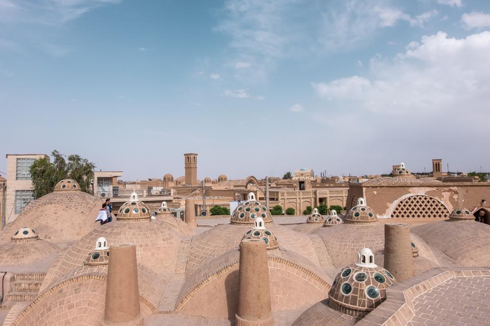 Hammam -e sultan Mir Ahmad Rooftop view Kashan
