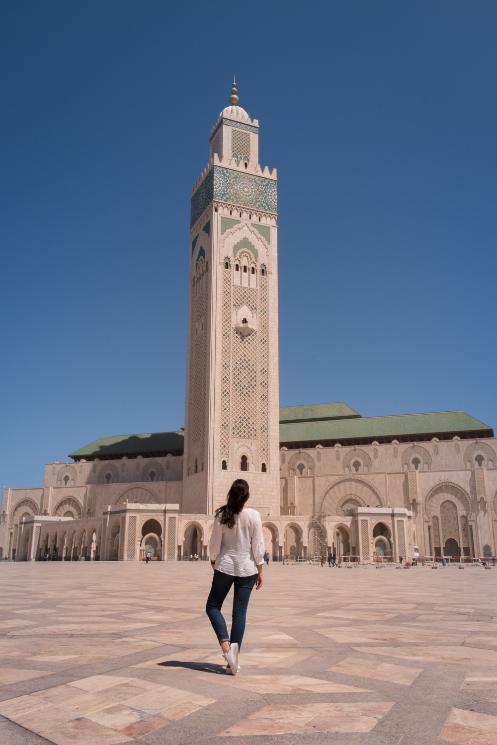 Morocco Road Trip itinerary Casablanca Hassan II mosque