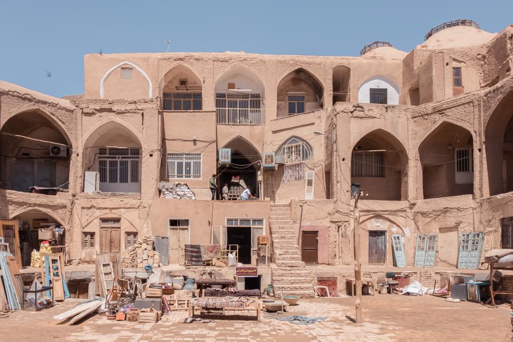kashan Bazaar courtyard