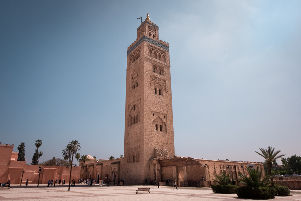 Morocco Road Trip itinerary Marrakech Koutoubia mosque