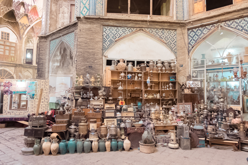 Kashan Bazaar Shop Antics