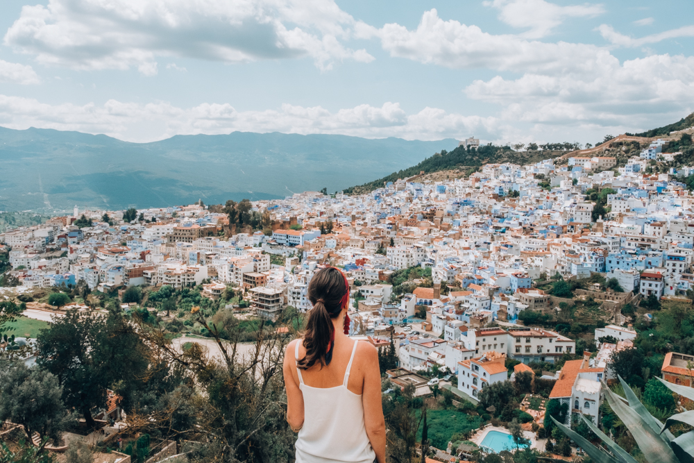 Morocco Road Trip Chefchaouen view