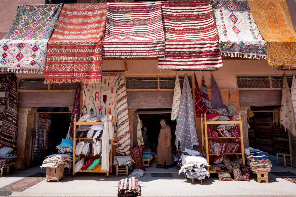 Carpet shop on Rahba Kedima Marrakech Shopping
