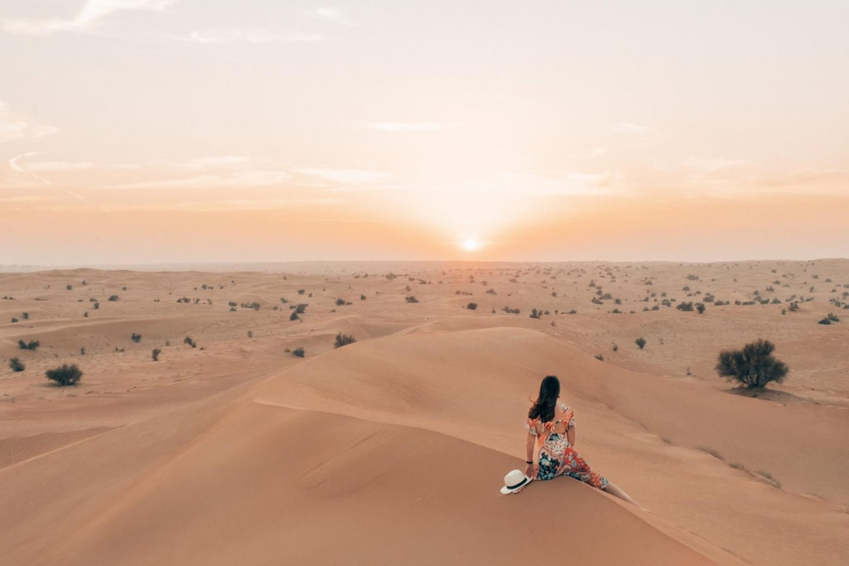 Al Maha Desert Dubai sunset