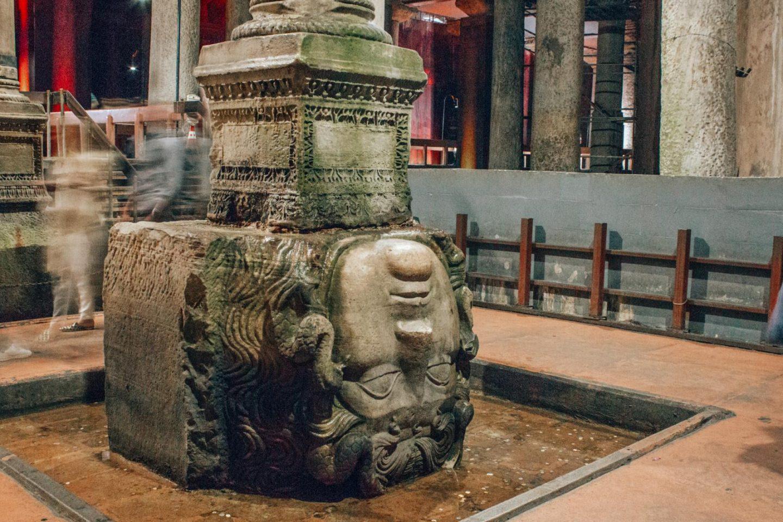 Istanbul itinerary - 3 days in Istanbul Basilica Cistern Medusa head