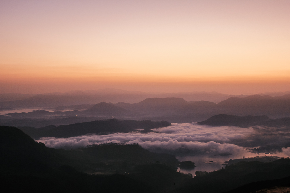 Adam's Peak climb sunrise View