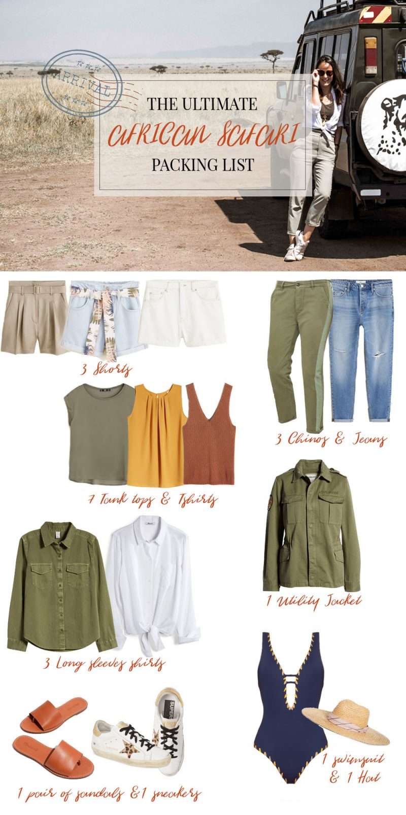 WHAT TO WEAR ON AN AFRICAN SAFARI