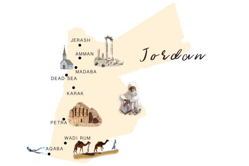 Jordan Itinerary Map