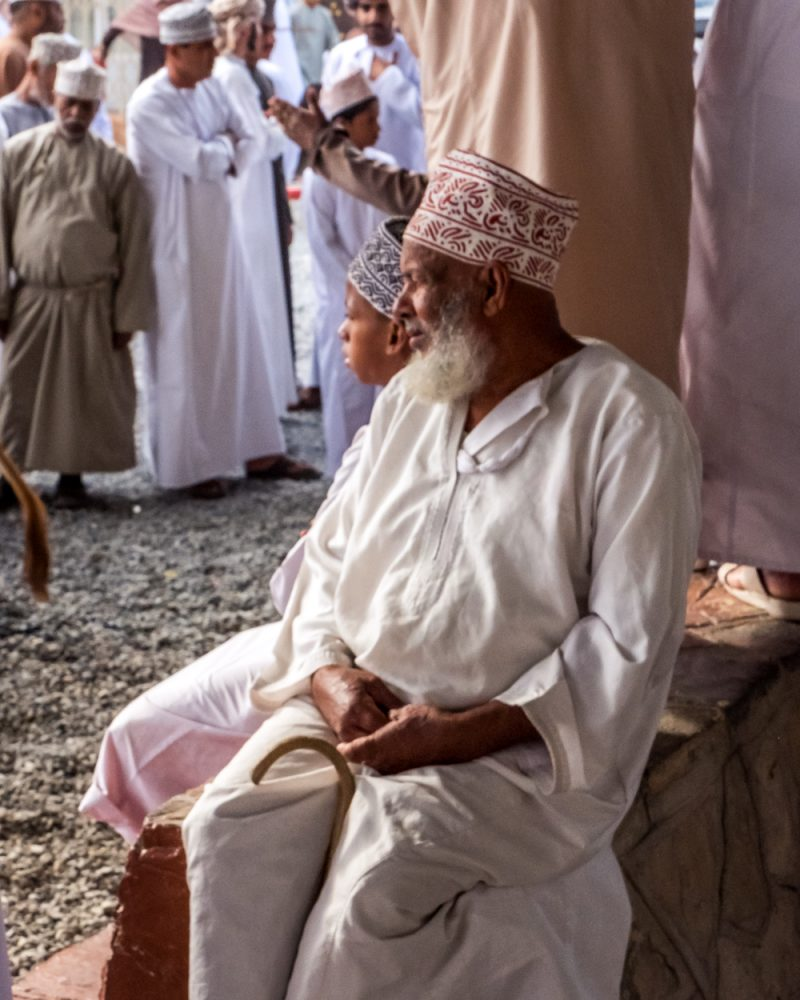 Oman Itinerary -Nizwa Cattle Market - Oman man - Places to visit in Oman