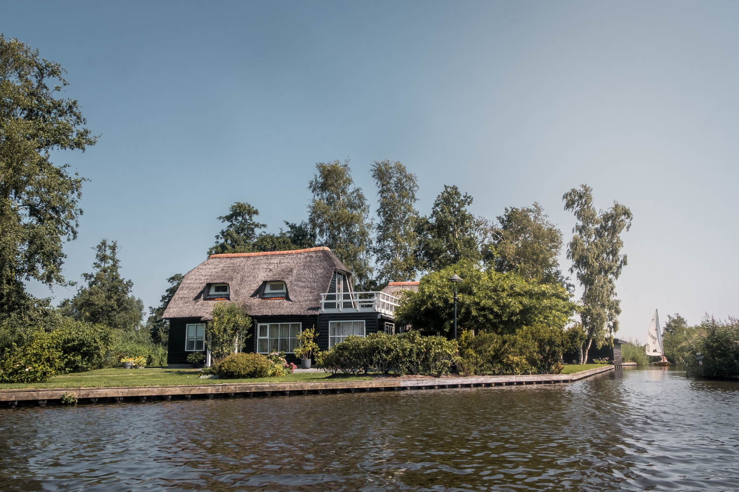 The Netherlands countryside Giethoorn village traditional house