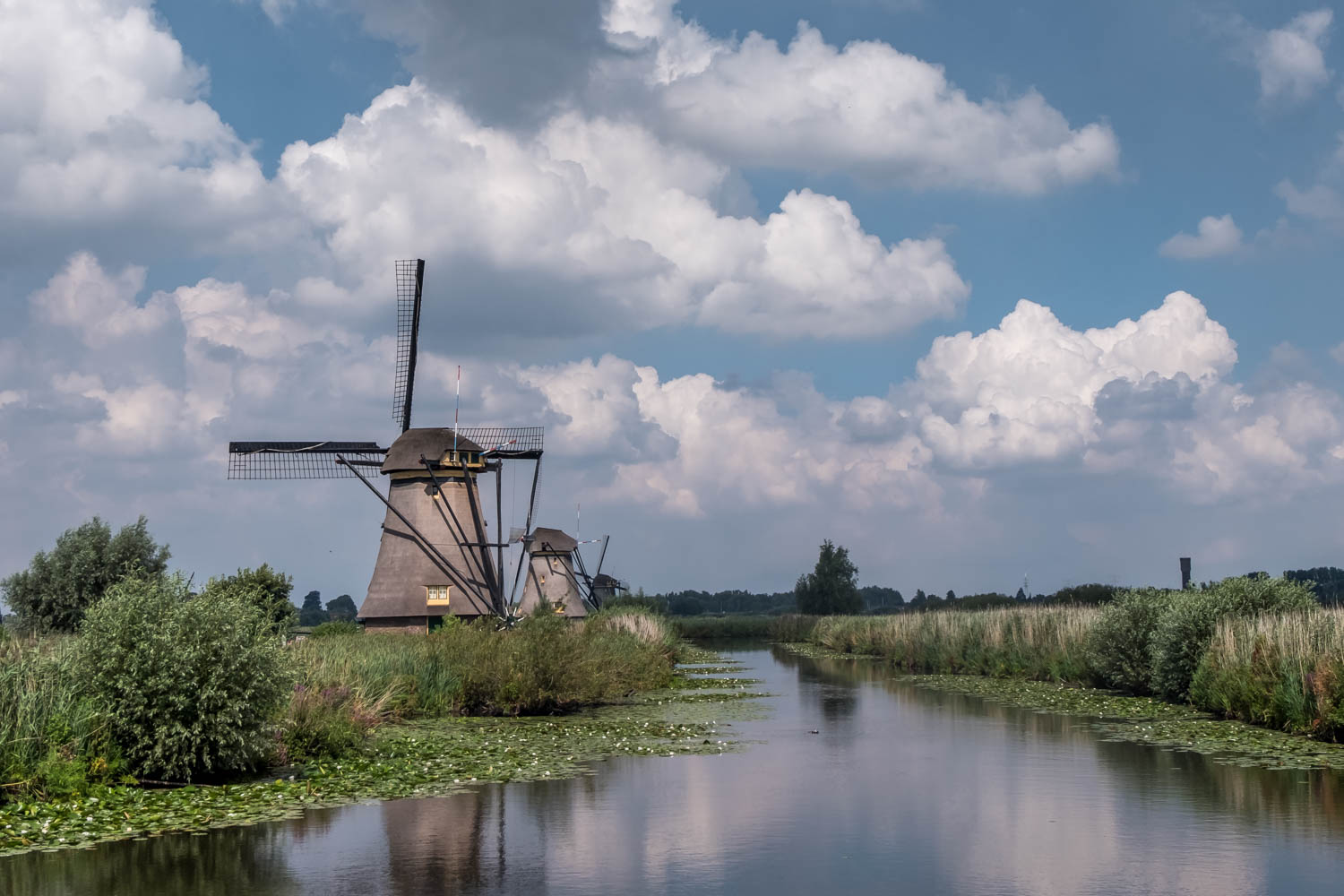 The Netherlands countryside Kinderdijk windmills