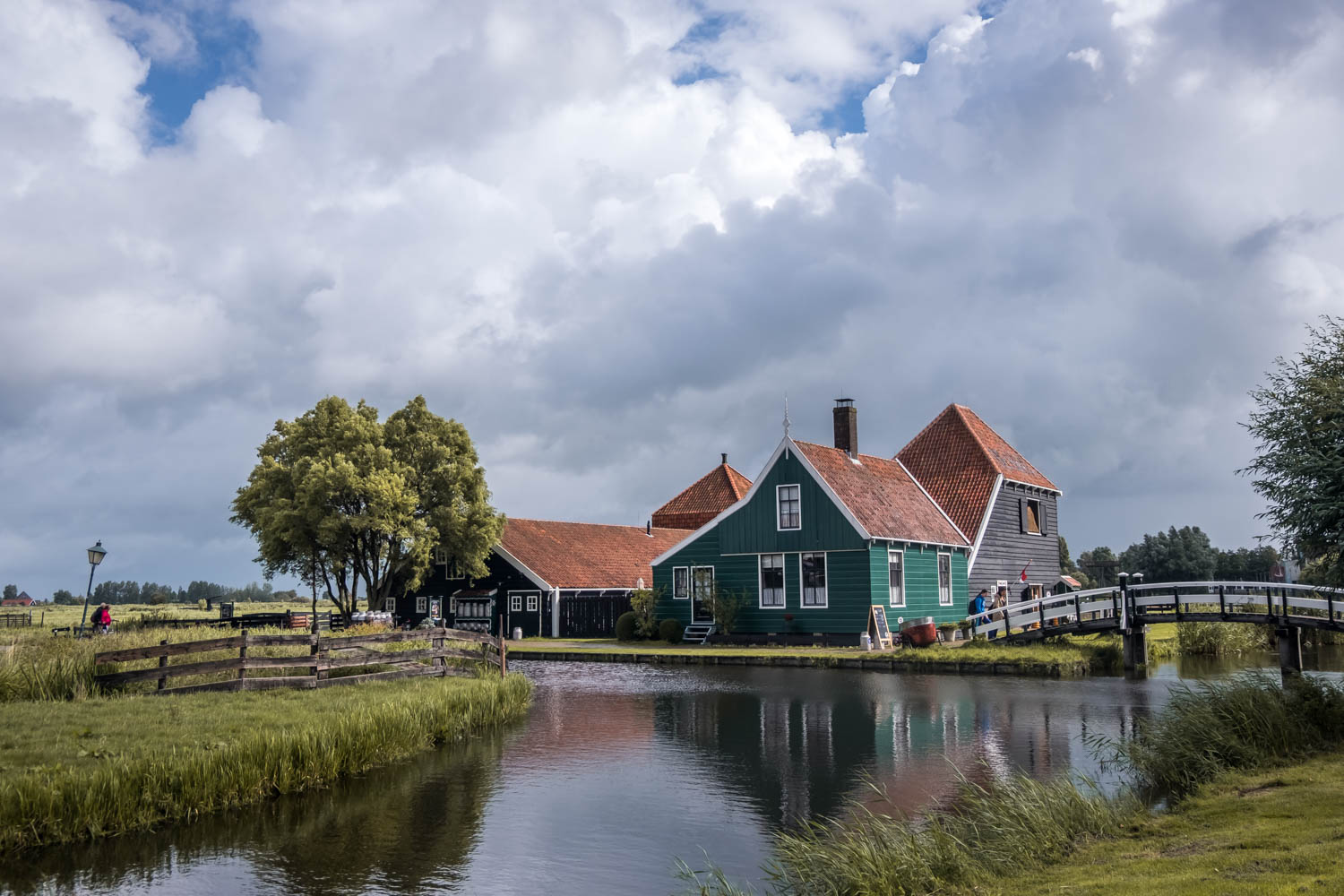 The Netherlands countryside Zaanse Schans  windmills