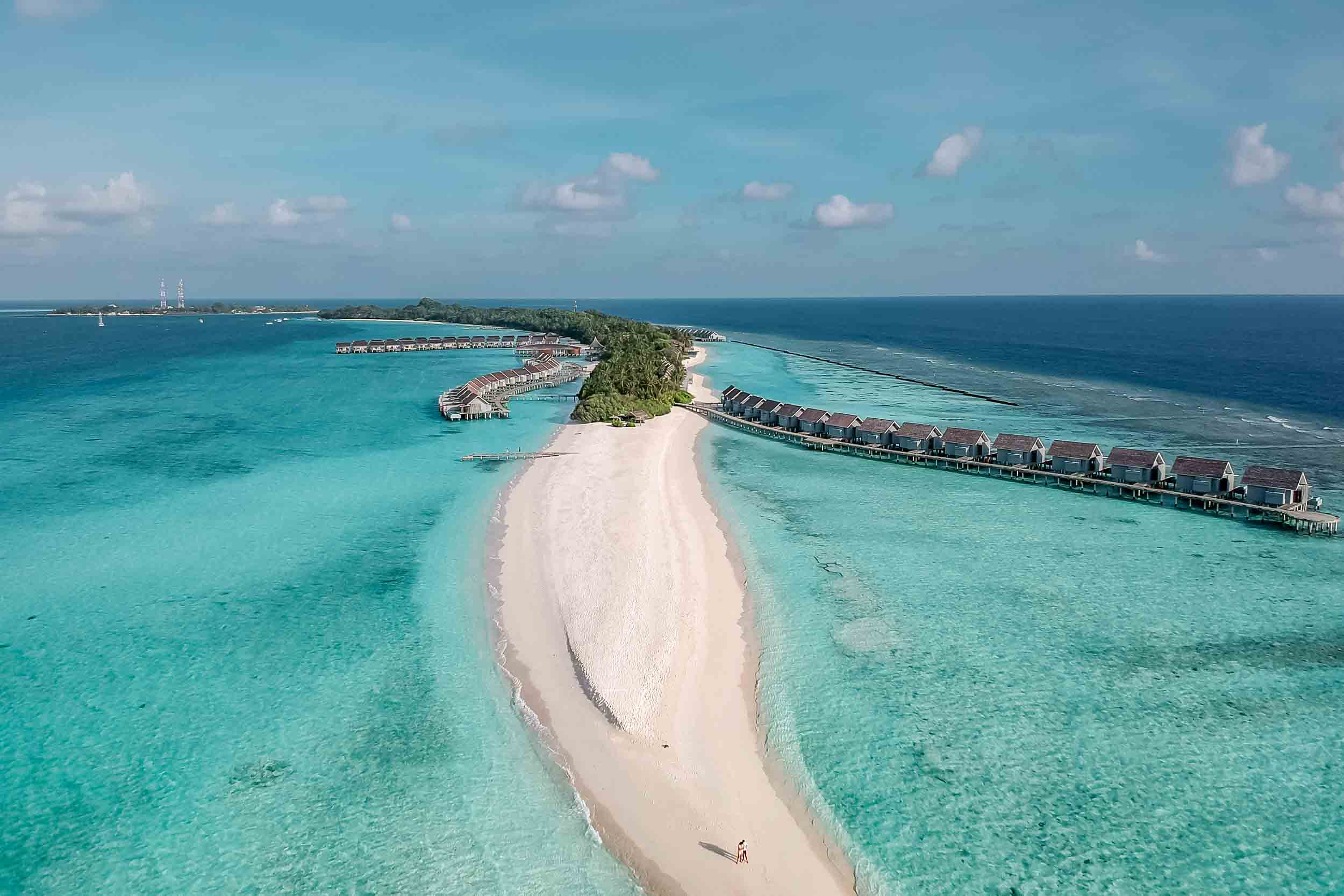 Kuramathi Island Resort Aerial view Maldives