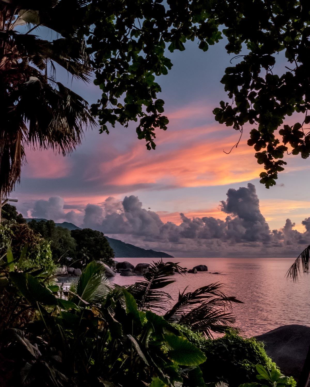 Seychelles Mahe Travel Guide Bliss Hotel sunset