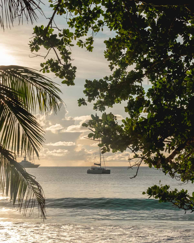 Praslin Travel Guide Anse Lazio Seychelles sunset